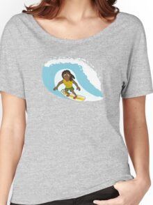 Surfer cartoon Women's Relaxed Fit T-Shirt