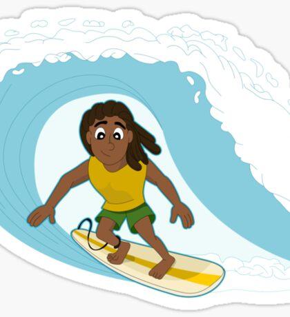 Surfer cartoon Sticker