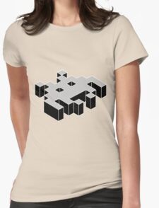 space invader 3d black and white T-Shirt
