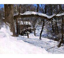 Winter Wonderland at Garvine Mill Photographic Print