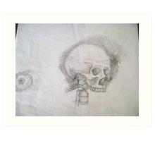 Skull & Eye Art Print