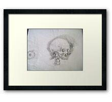 Skull & Eye Framed Print