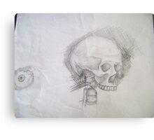 Skull & Eye Metal Print