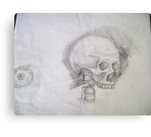 Skull & Eye Canvas Print