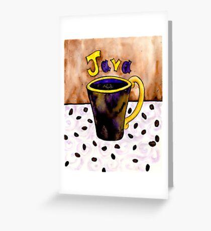 Java Java Java Greeting Card