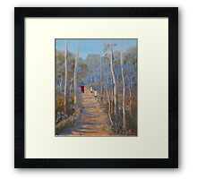 """Walking With Mum"" Framed Print"