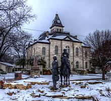 Snow Day on the Courthouse Square by Terence Russell