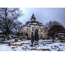Snow Day on the Courthouse Square Photographic Print