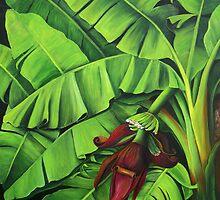 Banana Tree Flower by Dominica Alcantara