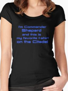 Commander Shepard Favorite Women's Fitted Scoop T-Shirt