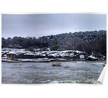 Vestiges of Snowfall at Big Rocks Park Poster