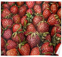 Strawberries oil painting Poster