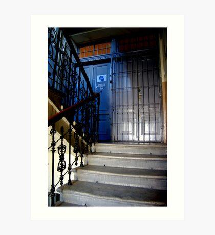 """""""Blue Hostel. Krakow, Poland. 2009"""" Art Print"""