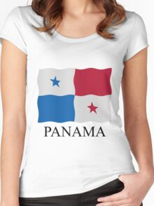 Panamanian flag Women's Fitted Scoop T-Shirt