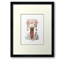 Hound Hatted Bunny Boy Framed Print