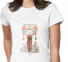 Hound Hatted Bunny Boy Womens Fitted T-Shirt