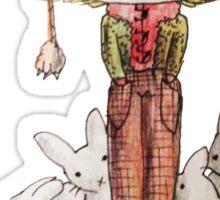 Hound Hatted Bunny Boy Sticker