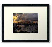 Darkness and Light - Sydney Harbour - Moods Of A City - The HDR Experience Framed Print