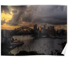Darkness and Light - Sydney Harbour - Moods Of A City - The HDR Experience Poster