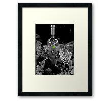 One Green Grape Framed Print