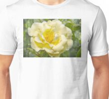 Yellow flower with vintage texture Unisex T-Shirt