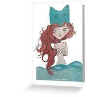 Blue Water Owl Greeting Card