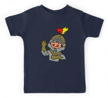 Retro cute Kid Billy as a Knight t-shirt Kids Tee