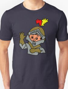 Retro cute Kid Billy as a Knight t-shirt T-Shirt