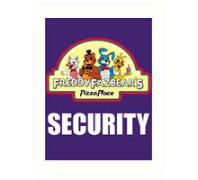 Five Nights at Freddy's 2 Freddy Fazbear's Security Logo Art Print
