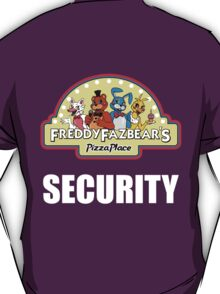 Five Nights at Freddy's 2 Freddy Fazbear's Security Logo T-Shirt
