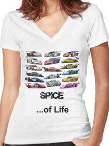 Spice of Life Women's Fitted V-Neck T-Shirt