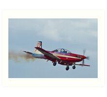 Roulette Aerobatic Display Aircraft Art Print