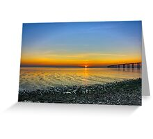 Sunrise - hdr Greeting Card