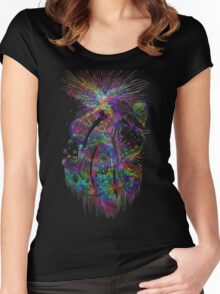 Cosmic Crayola - psychedelic stars, and tiny dancers. Women's Fitted Scoop T-Shirt