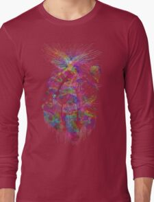 Cosmic Crayola - psychedelic stars, and tiny dancers. Long Sleeve T-Shirt