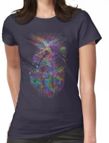 Cosmic Crayola - psychedelic stars, and tiny dancers. Womens Fitted T-Shirt