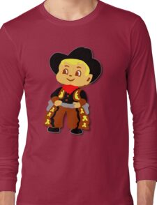 Retro cute Kid Billy Cowboy tee Long Sleeve T-Shirt