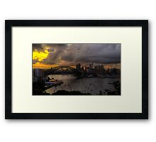 Dark City 2010 - Moods Of A City - The HDR Experience Framed Print