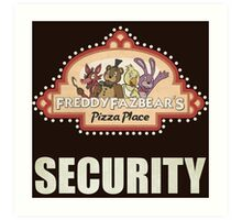 Five Nights at Freddy's Freddy Fazbear's Security Logo Art Print