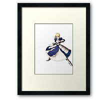 Fate/stay night - Saber Framed Print