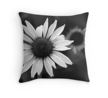 Black and White Cones Throw Pillow