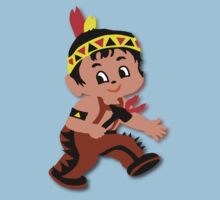 Cute retro Kid Billy as a Native Indian Kids Clothes