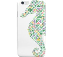 Nautical Seahorse pastel spring colours  iPhone Case/Skin