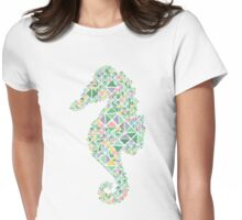 Nautical Seahorse pastel spring colours  Womens Fitted T-Shirt