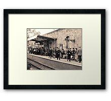 Railway station rush hour  Framed Print
