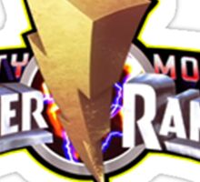 mighty morphins power rangers logo Sticker