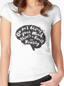 Do Not Adjust Your Mind... Women's Fitted Scoop T-Shirt
