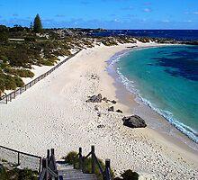 Pinky's Beach - Rottnest Island, Western Australia by Heather Linfoot