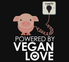 VeganChic ~ Powered By Vegan Love Kids Tee