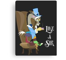 My Little Pony Discord - Like a Sir Canvas Print